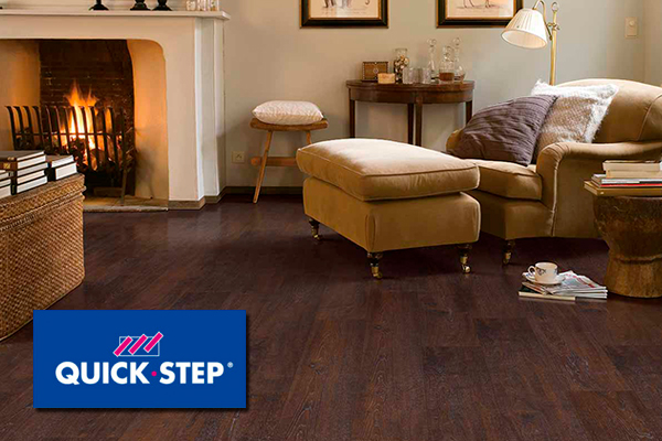 Quick Step laminate wood floors and laminate tile floors available at Dockery Abbey Carpet and Floor.